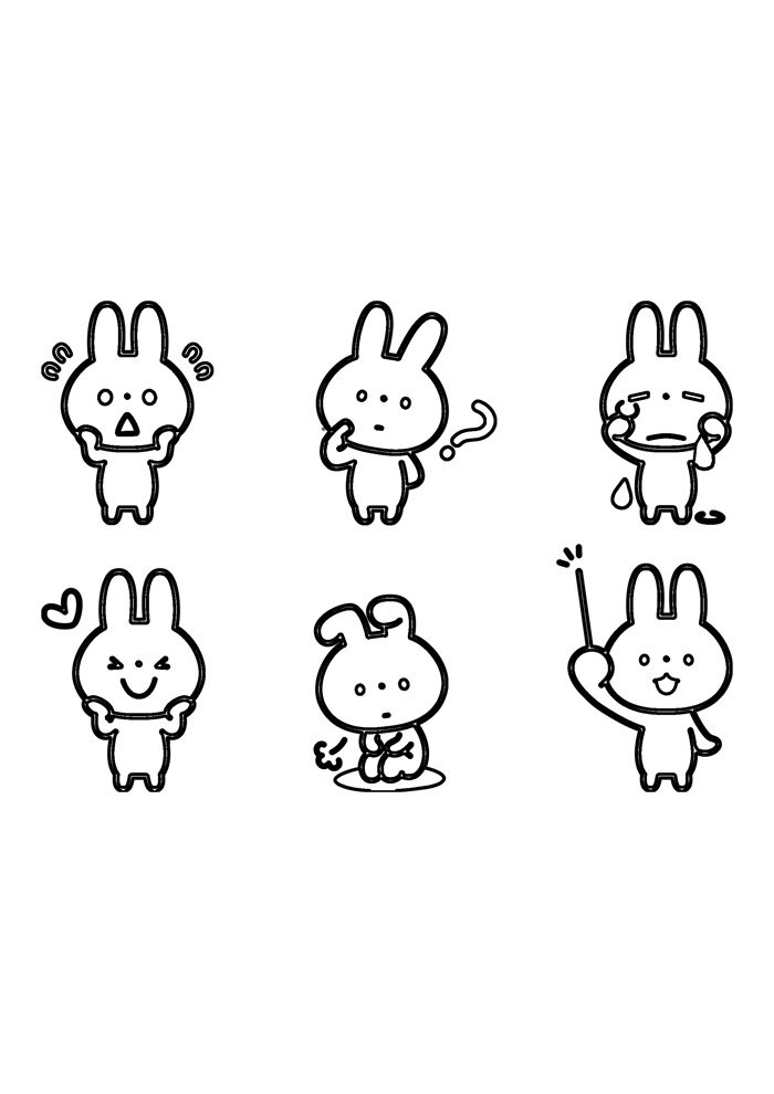 bunny coloring page 50