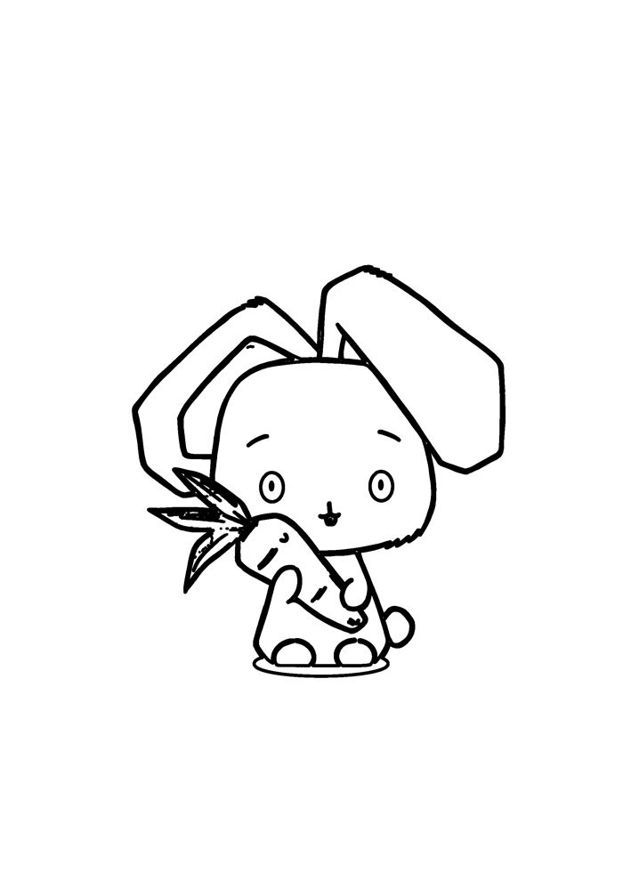 bunny coloring page 51