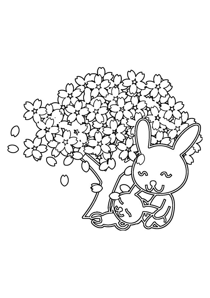 bunny coloring page 53