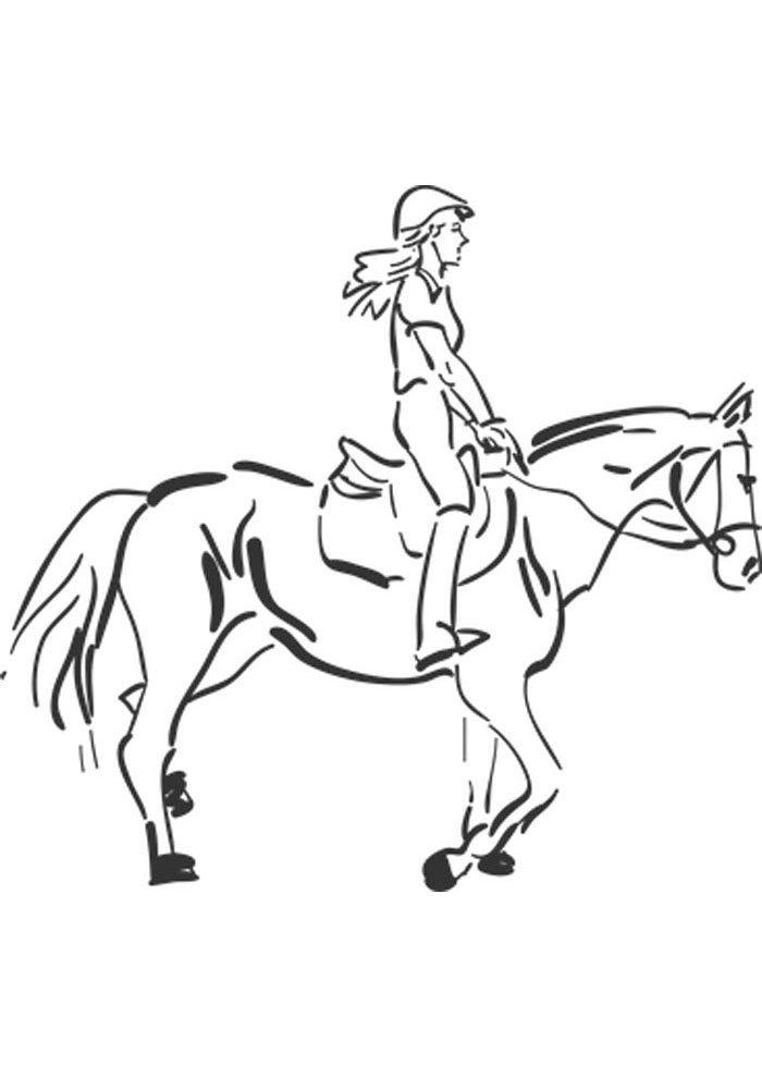 caballo para colorear 17
