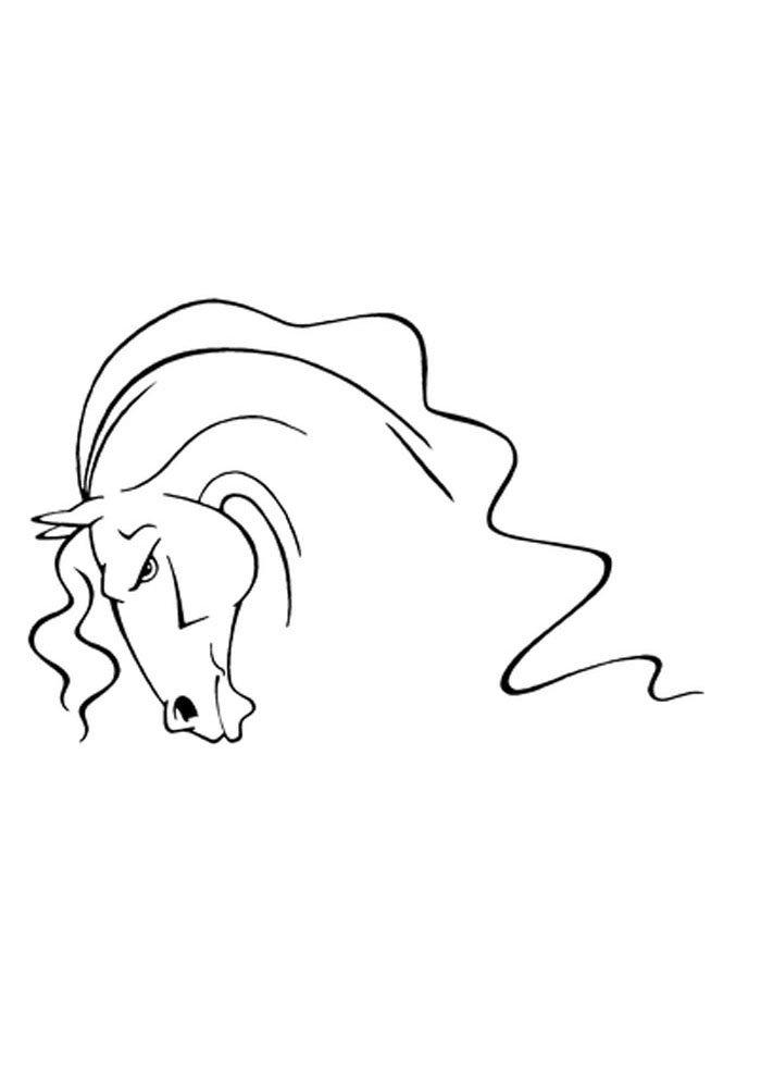 caballo para colorear 19
