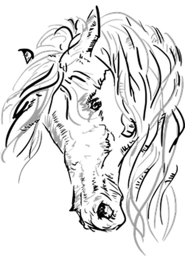 caballo para colorear 21