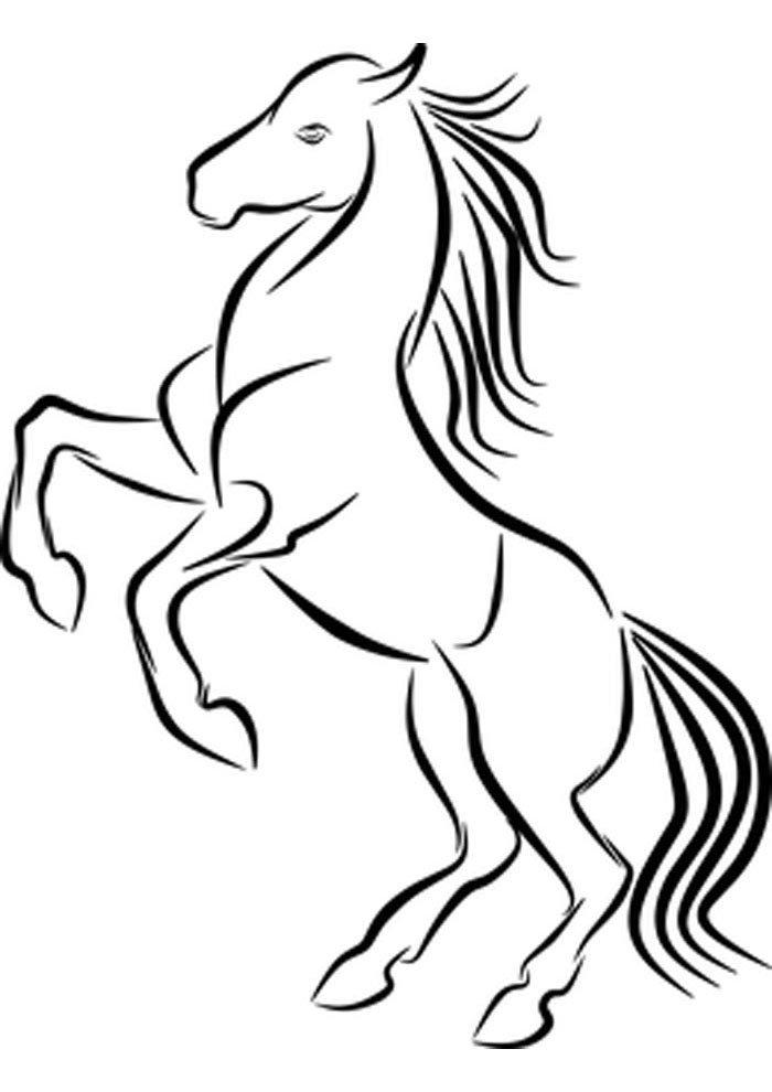 caballo para colorear 28