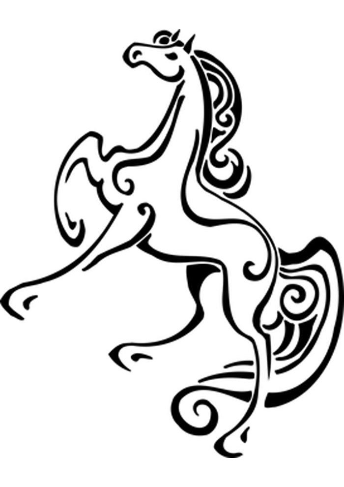 caballo para colorear 5
