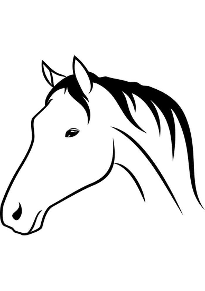 caballo para colorear 7
