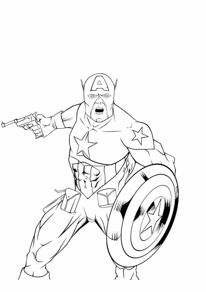 captain america coloring page 10