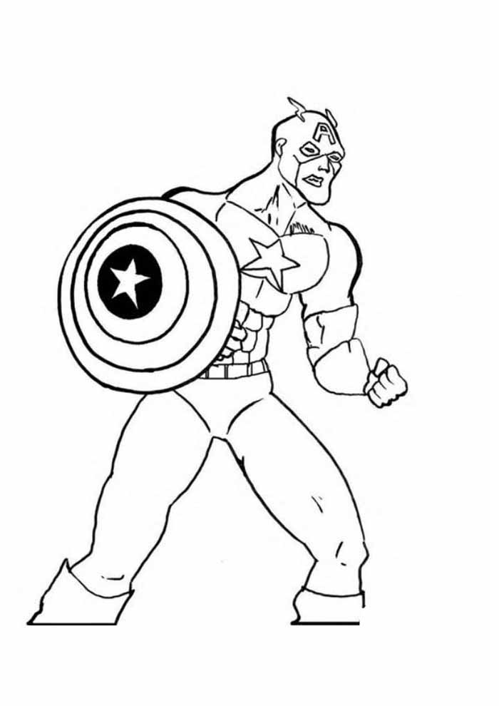 captain america coloring page 11