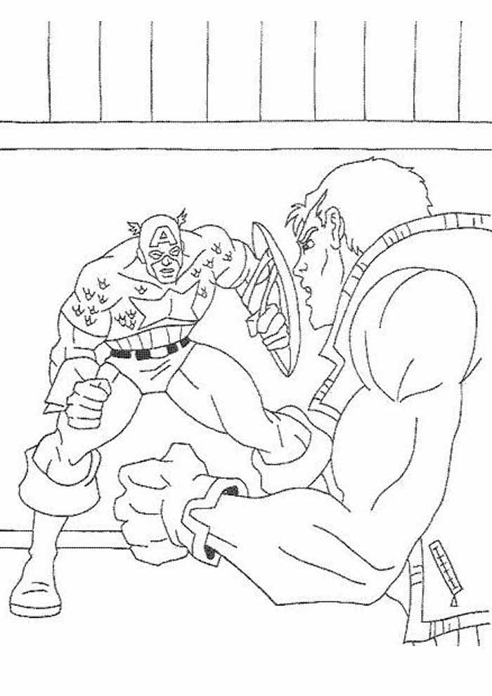 captain america coloring page 13