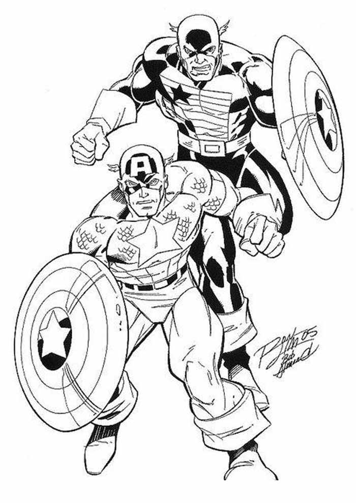 captain america coloring page 14