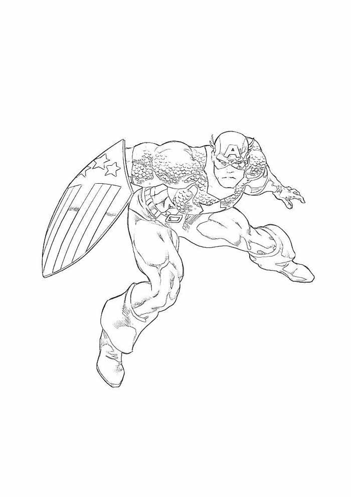 captain america coloring page 15