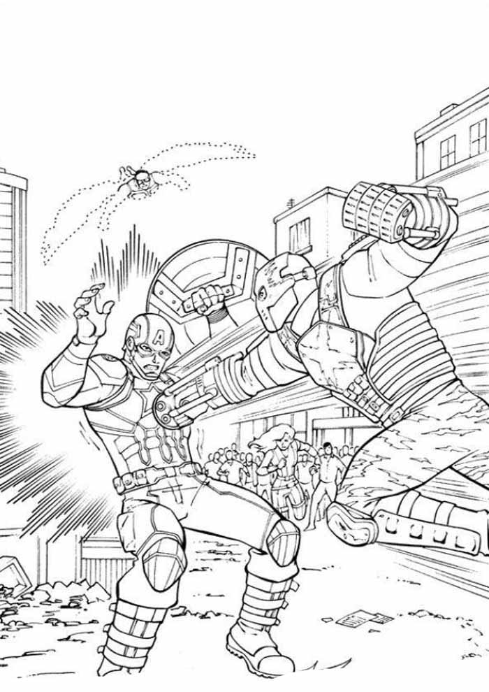 captain america coloring page 18