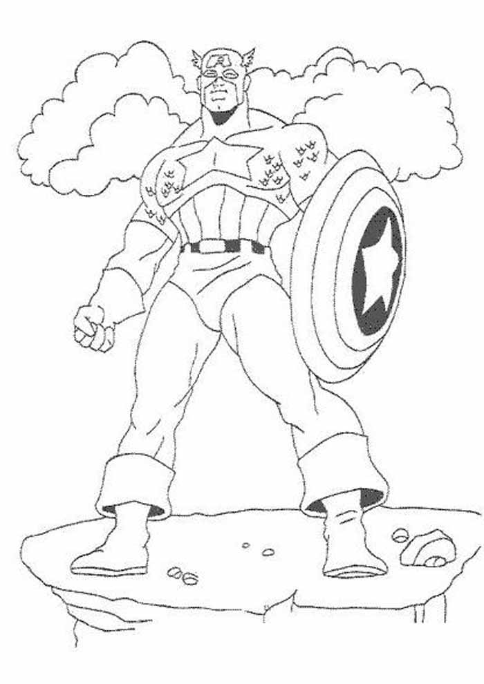 captain america coloring page 2
