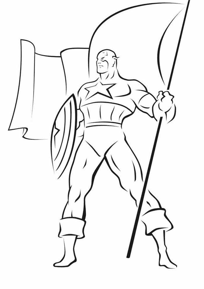 captain america coloring page 20
