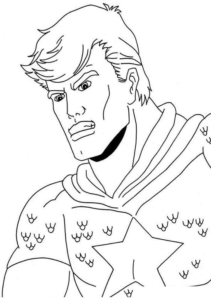 captain america coloring page 22