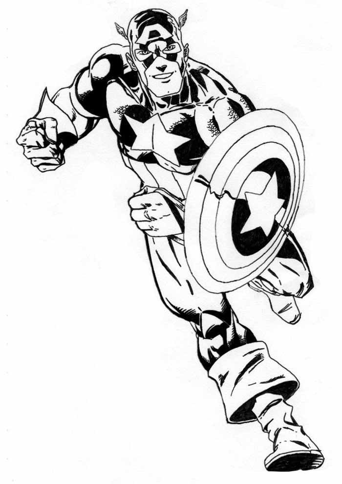 captain america coloring page 24