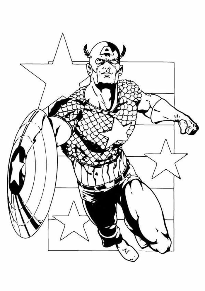 captain america coloring page 25