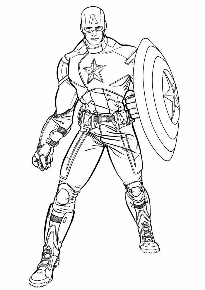 captain america coloring page 26