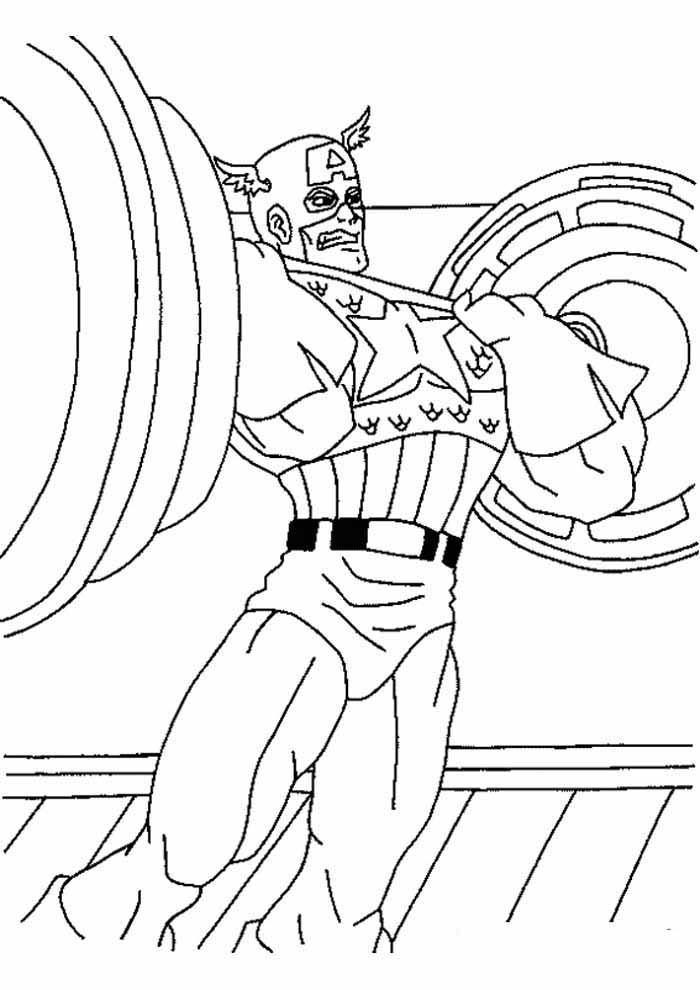 captain america coloring page 27