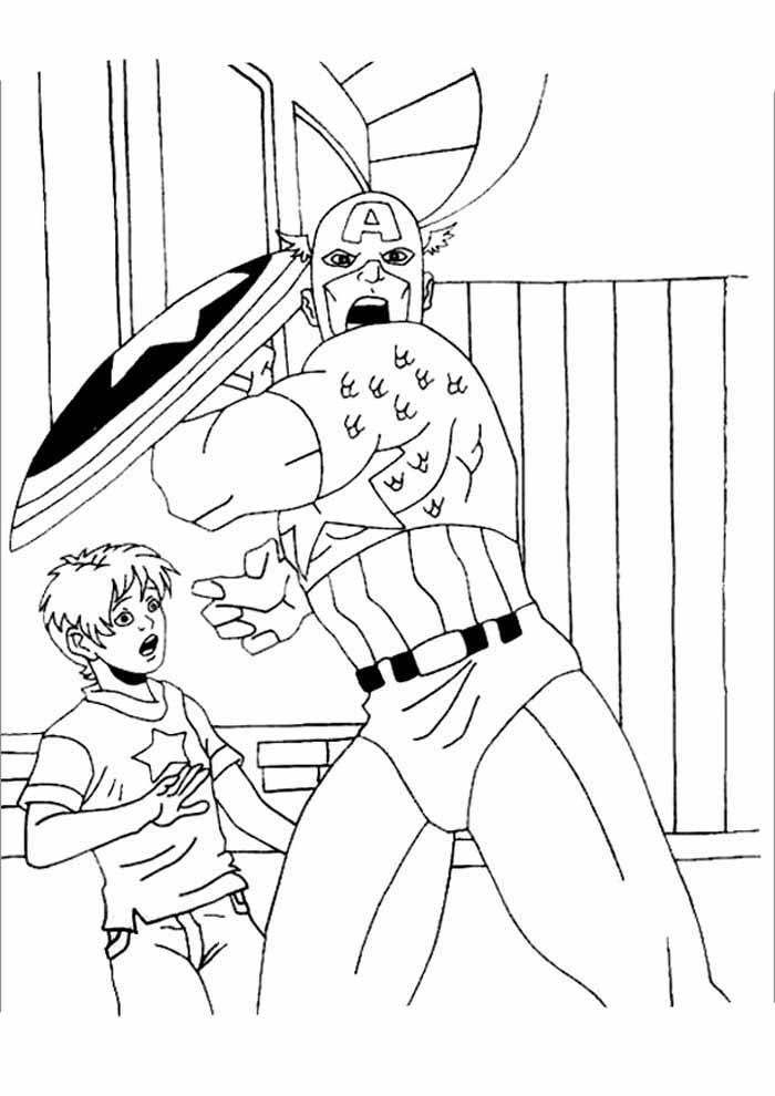 captain america coloring page 29