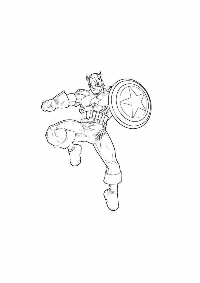 captain america coloring page 3