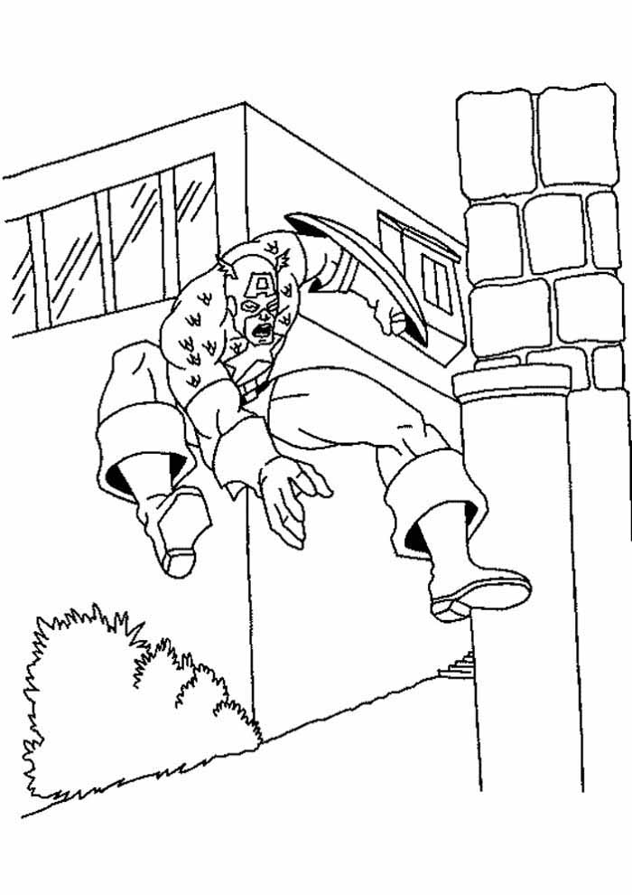 captain america coloring page 31