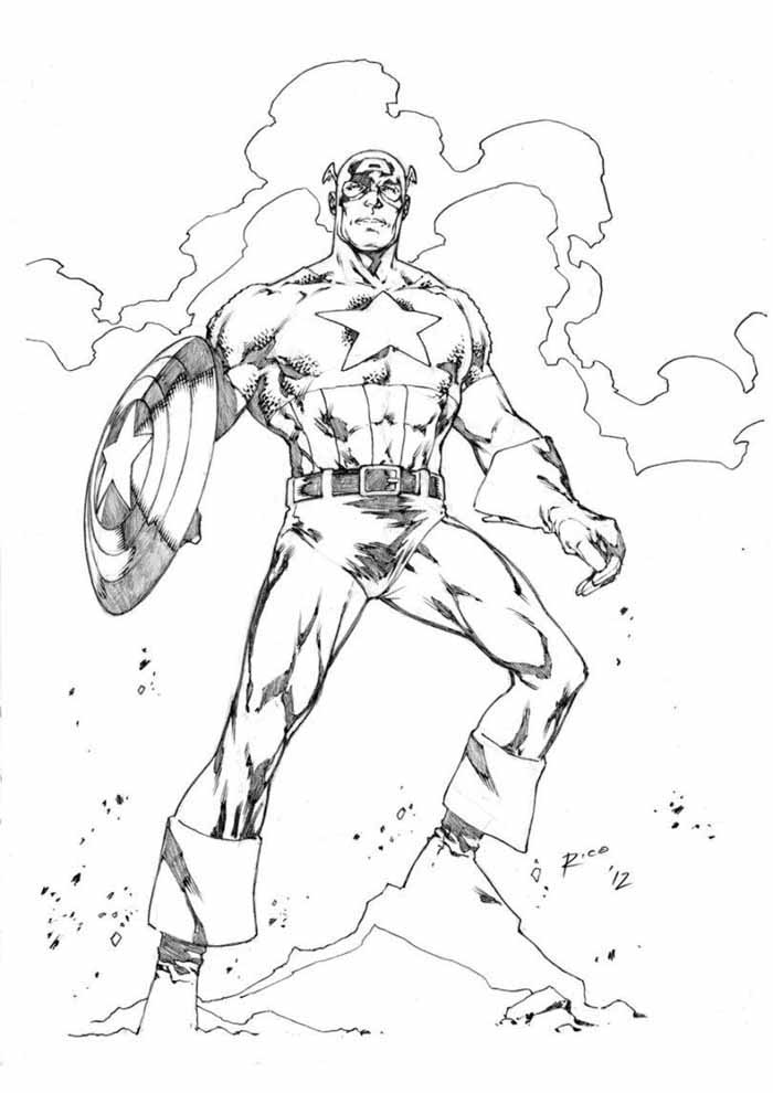 captain america coloring page 32
