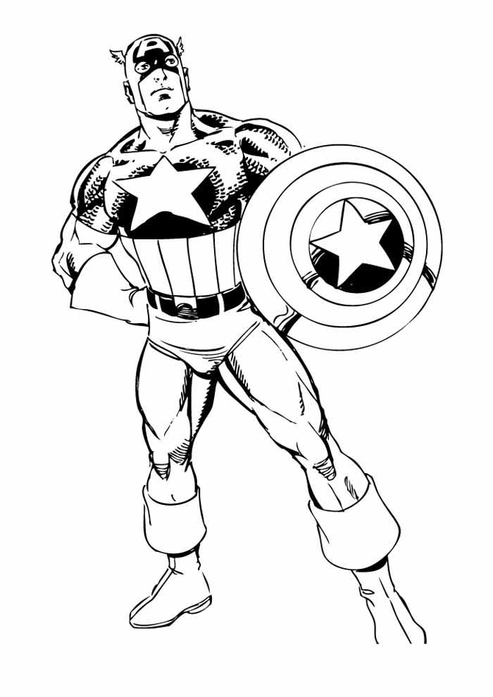 captain america coloring page 36