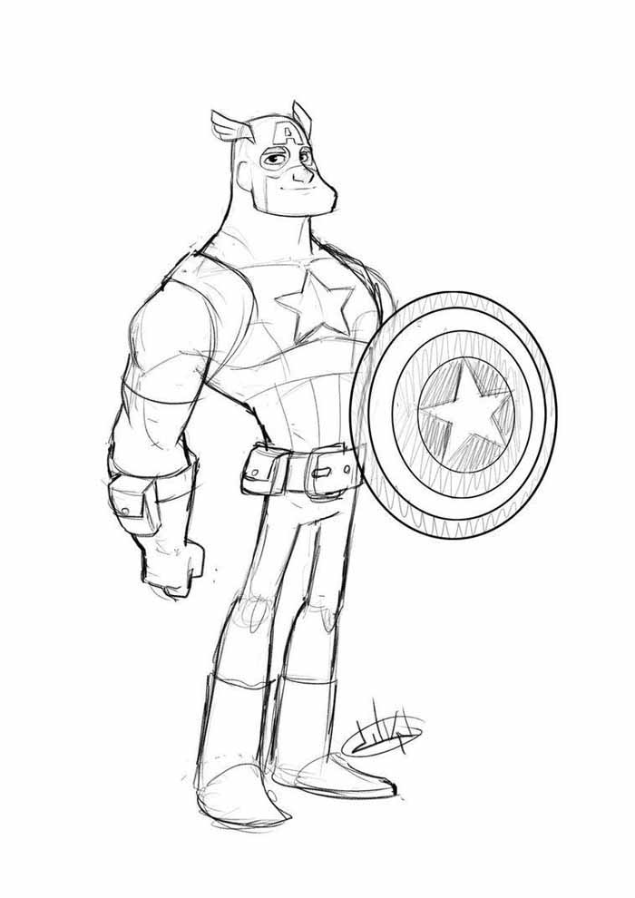 captain america coloring page 38