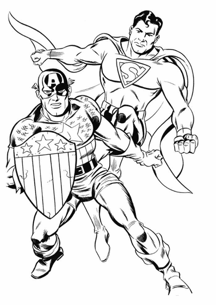 captain america coloring page 4