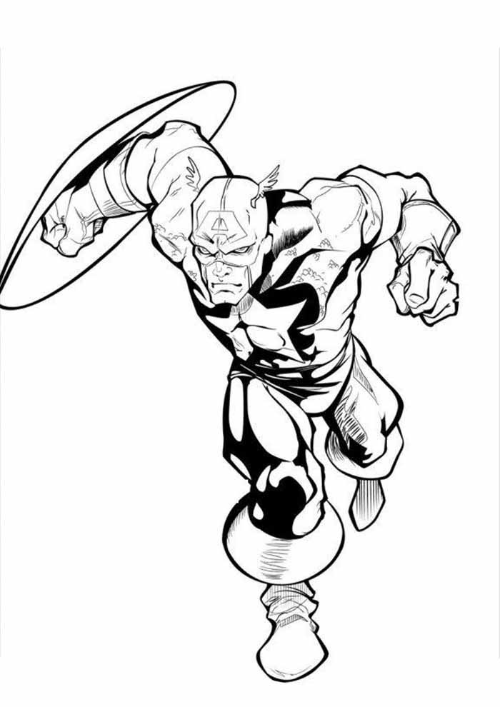 captain america coloring page 40