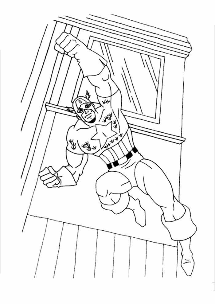 captain america coloring page 41