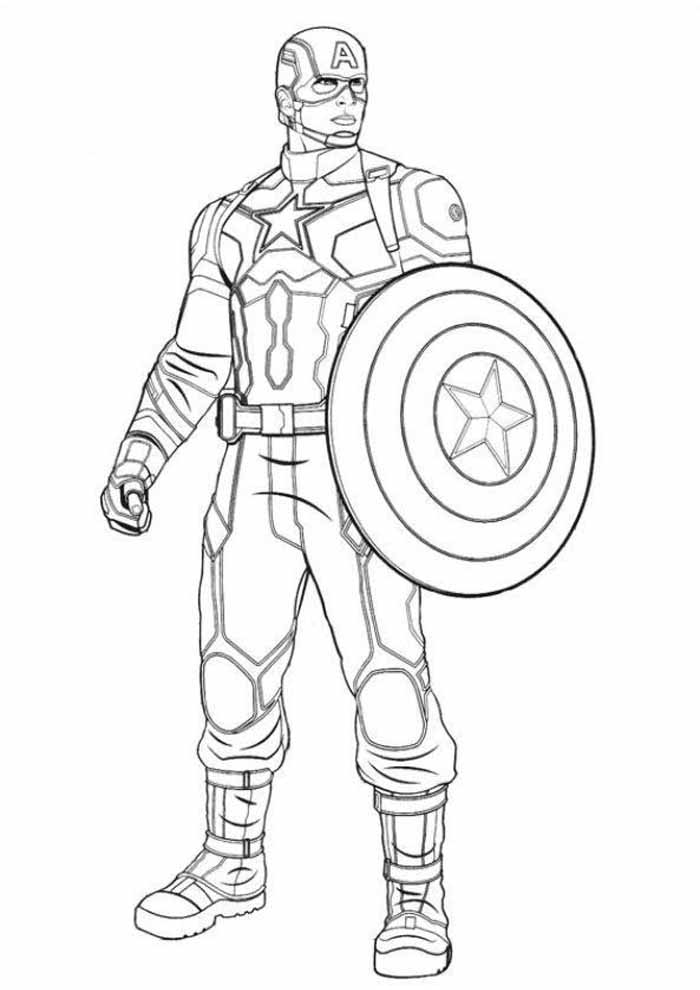 captain america coloring page 43