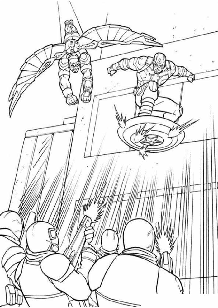 captain america coloring page 44