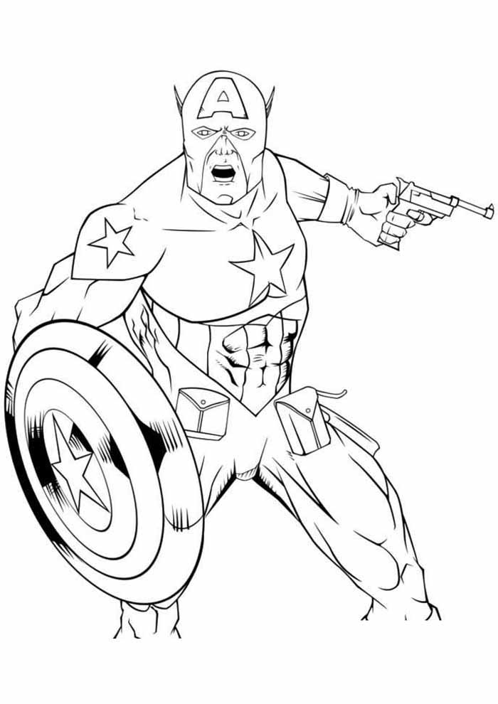 captain america coloring page 45