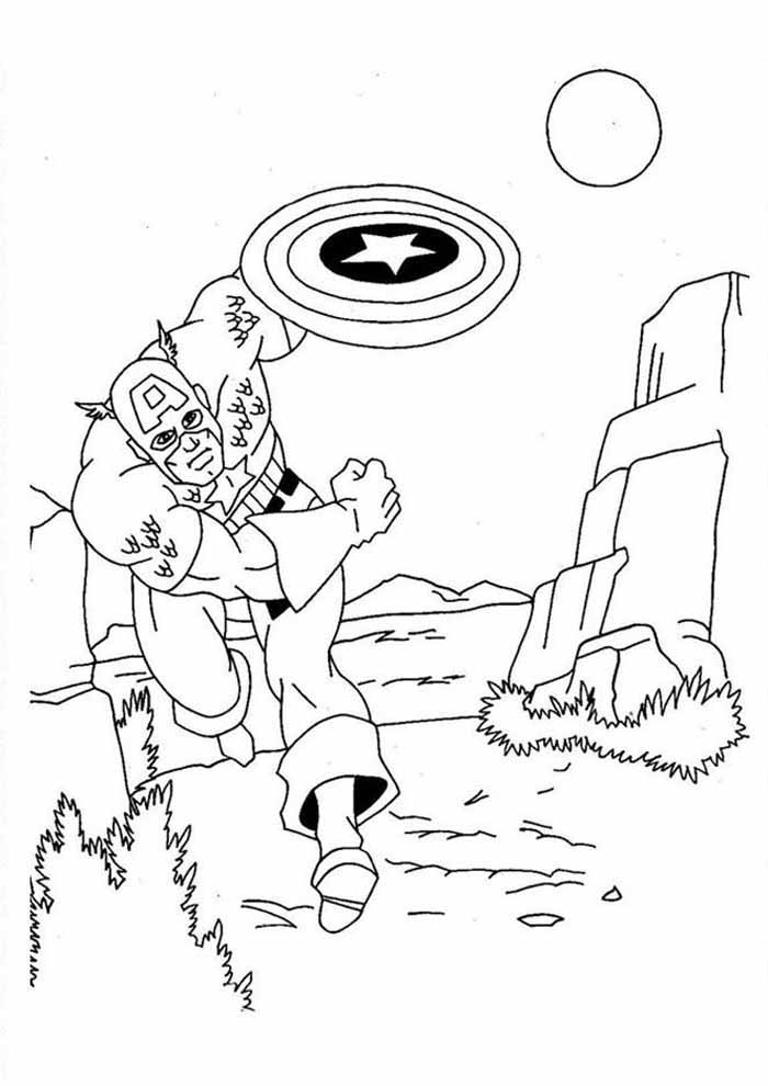 captain america coloring page 46