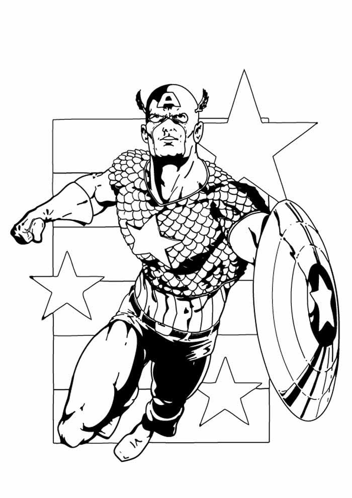 captain america coloring page 47
