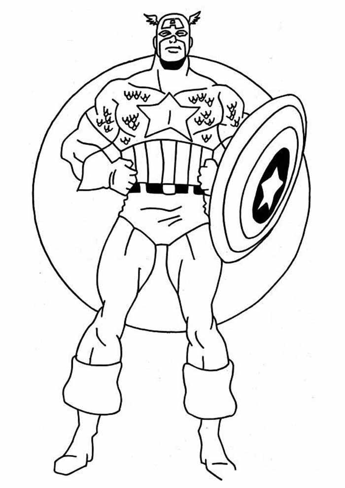 captain america coloring page 53