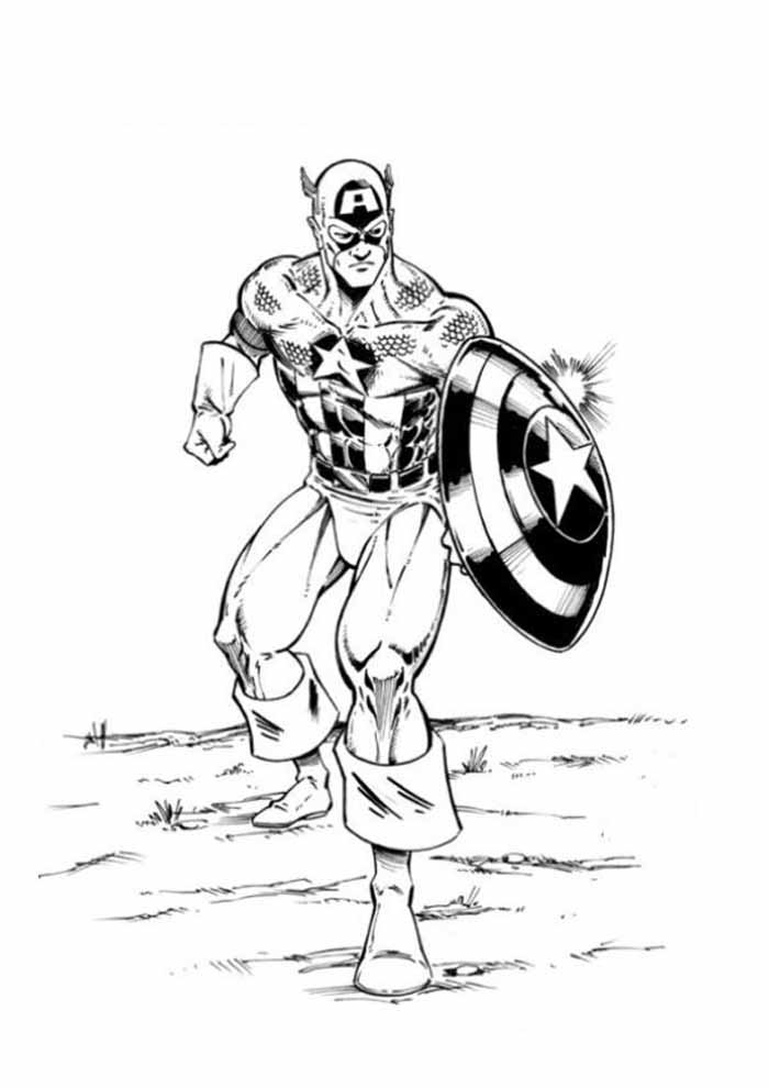 captain america coloring page 54