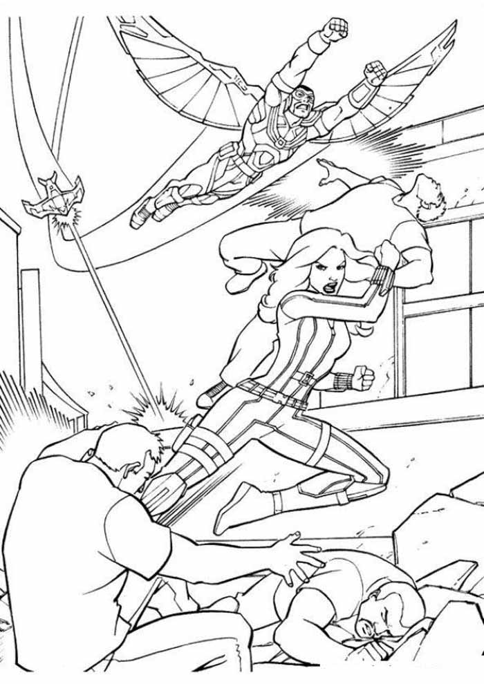 captain america coloring page 55