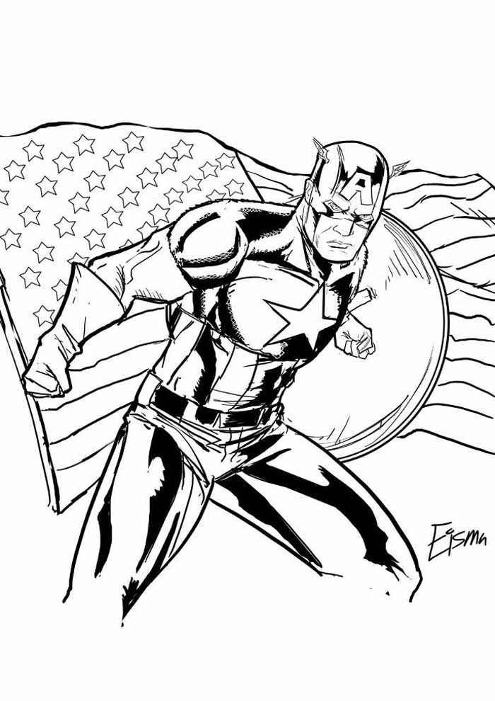 captain america coloring page 57