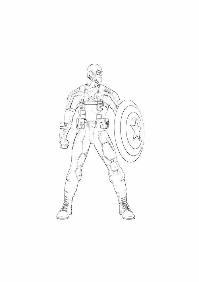 captain america coloring page 58