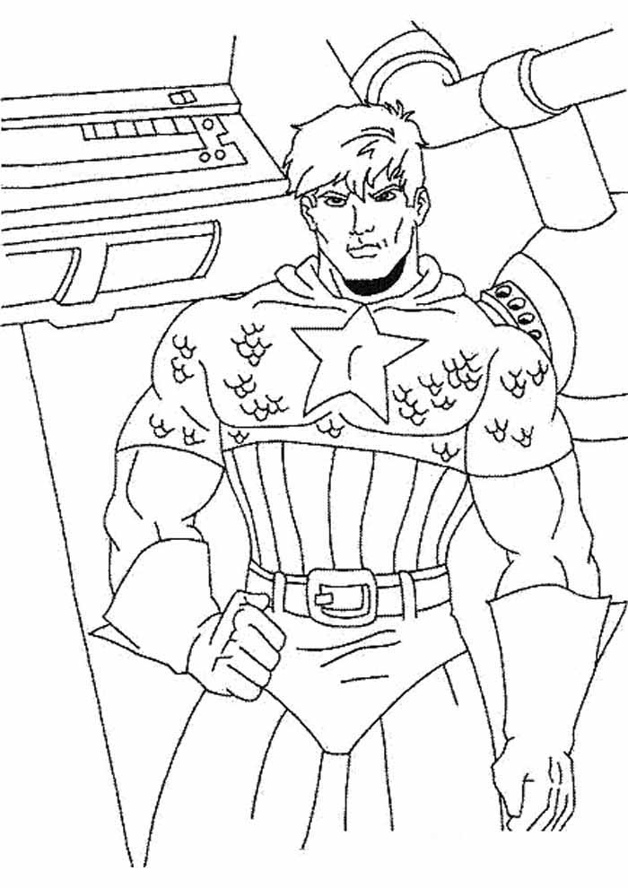captain america coloring page 59