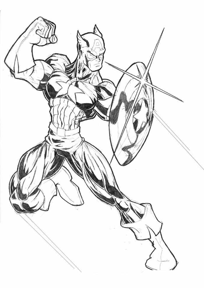 captain america coloring page 6