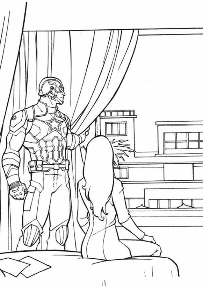 captain america coloring page 61