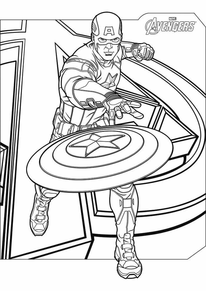 captain america coloring page 62