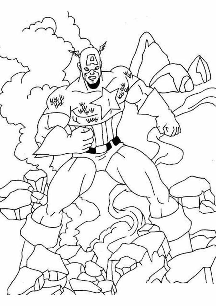 captain america coloring page 63