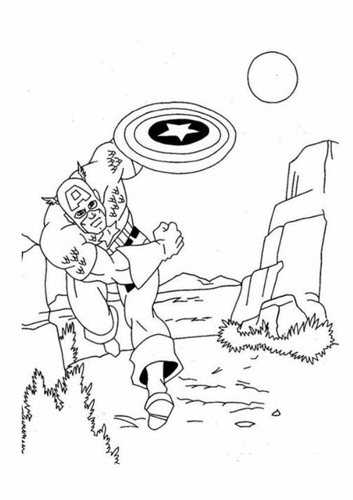 captain america coloring page 64