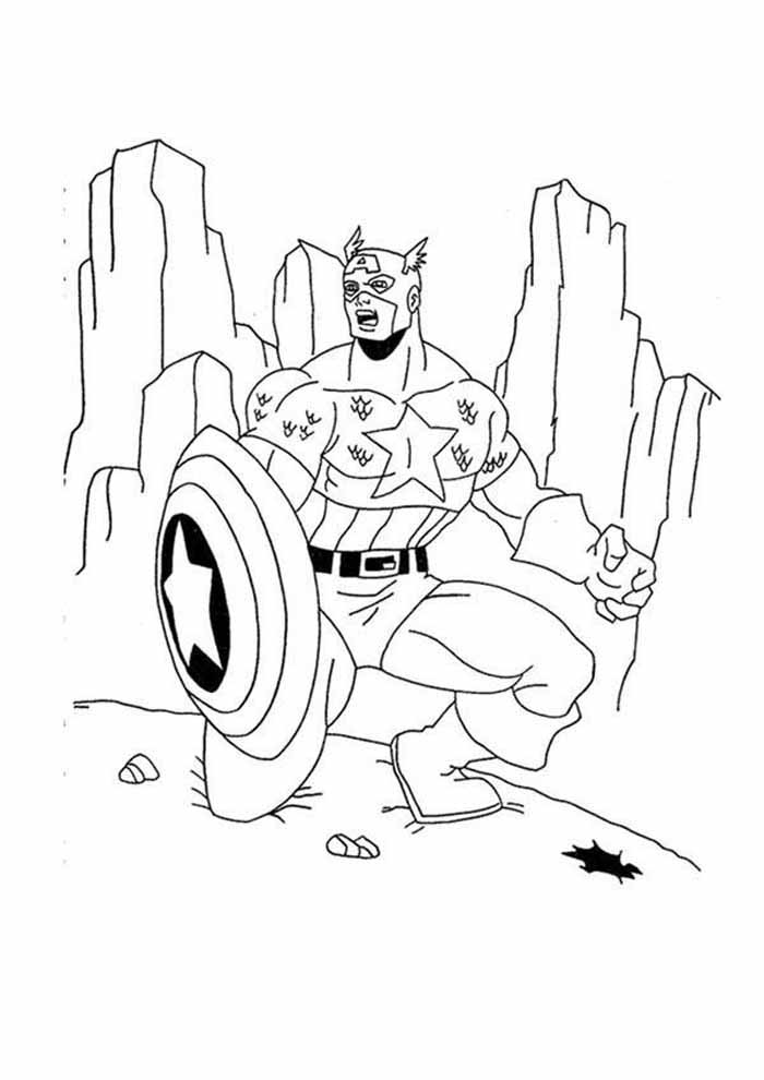 captain america coloring page 65