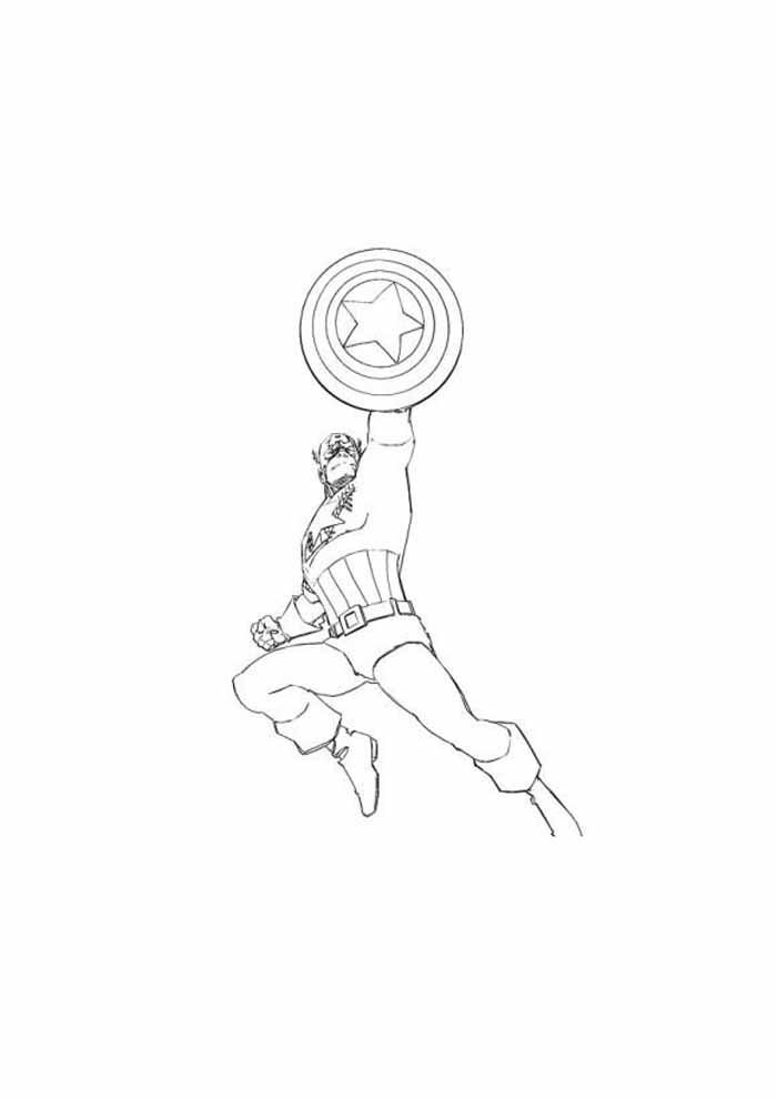 captain america coloring page 66
