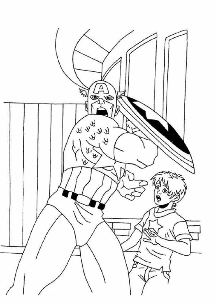 captain america coloring page 7